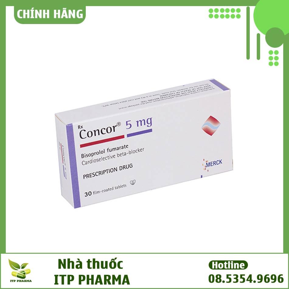 Thuốc Concor 5mg bào chế dưới dạng viên nén