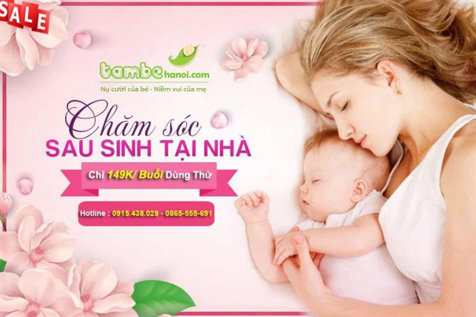 Dịch vụ Tắm bé Hà Nội - địa chỉ uy tín chăm sóc mẹ và trẻ sau sinh