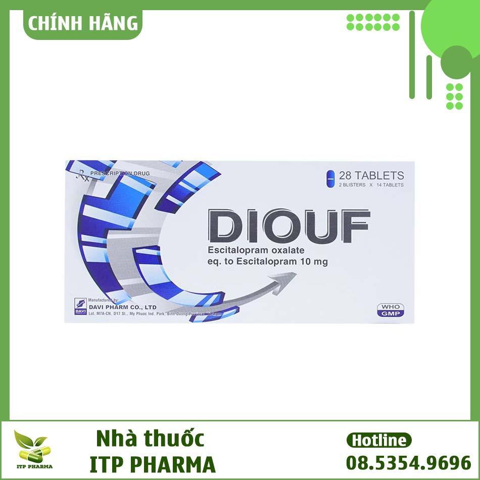 Diouf thuộc nhóm thuốc hướng thần