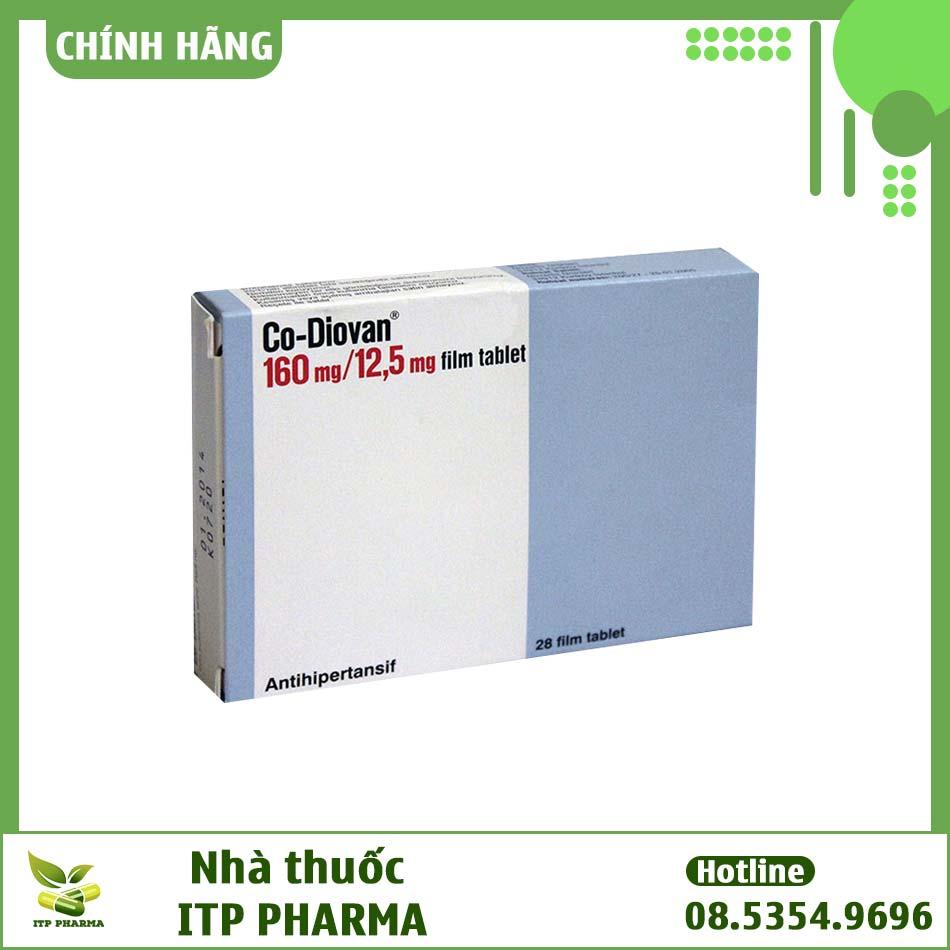 Hình ảnh hộp thuốc Diovan 160mg