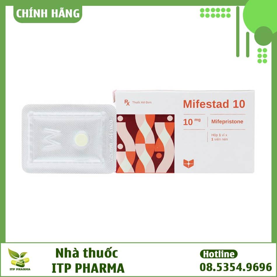 Hình ảnh hộp thuốc Mifestad 10mg