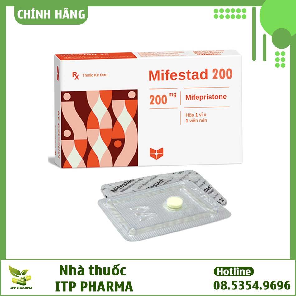 Hình ảnh hộp thuốc Mifestad 200mg