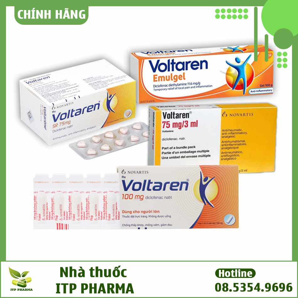 Các dạng bào chế khác nhau của thuốc Voltaren