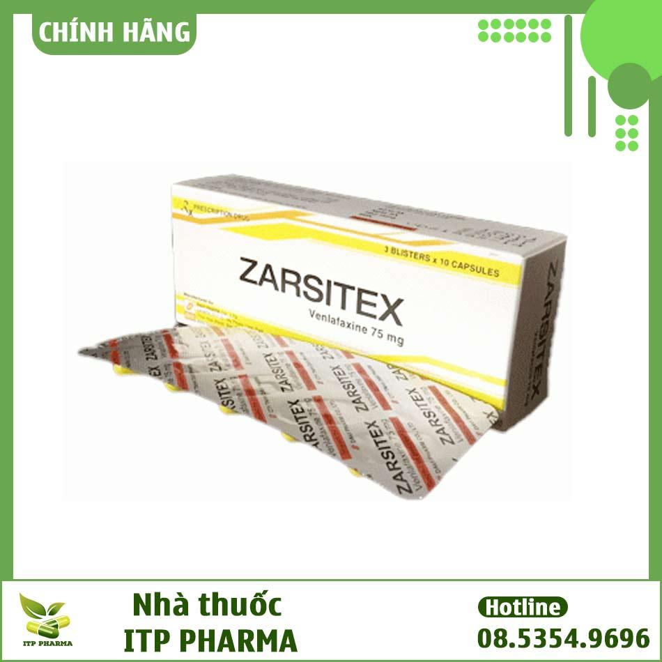 Hình ảnh vỉ thuốc Zarsitex 75mg