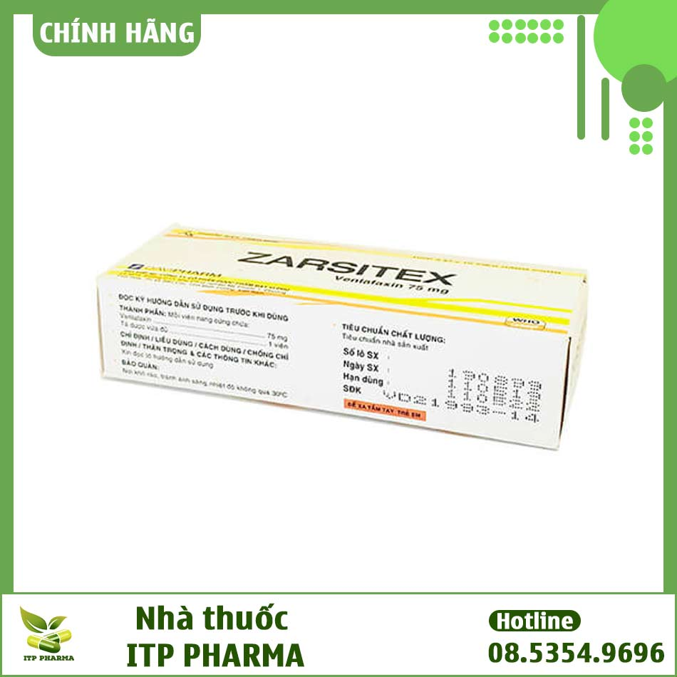 Hình ảnh hộp thuốc Zarsitex 75mg