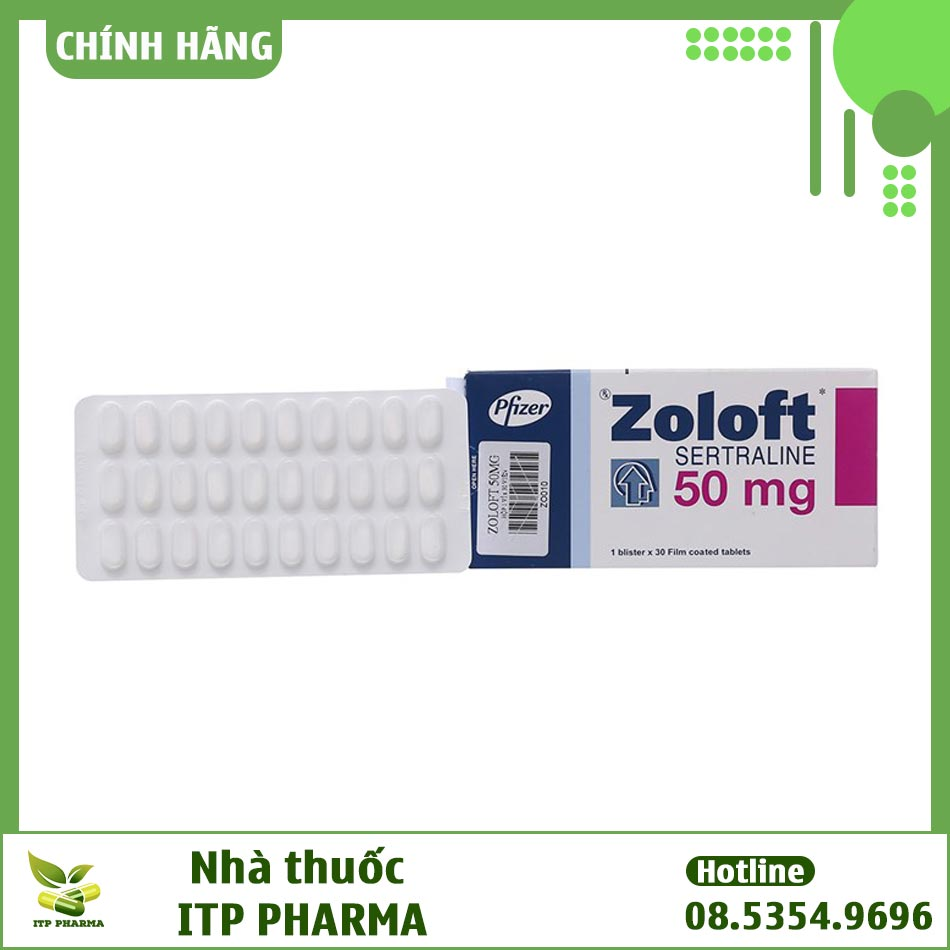 Thuốc Zoloft 50mg điều trị trầm cảm