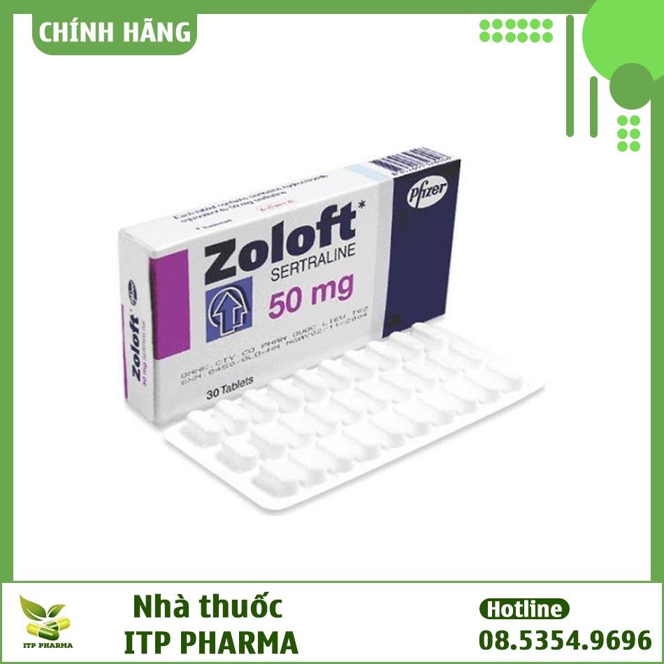 Thuốc Zoloft 50mg bào chế dưới dạng viên nén