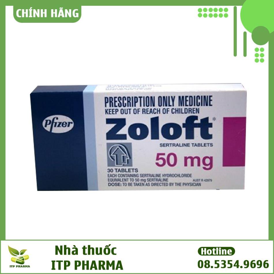 Hình ảnh hộp thuốc Zoloft 50mg