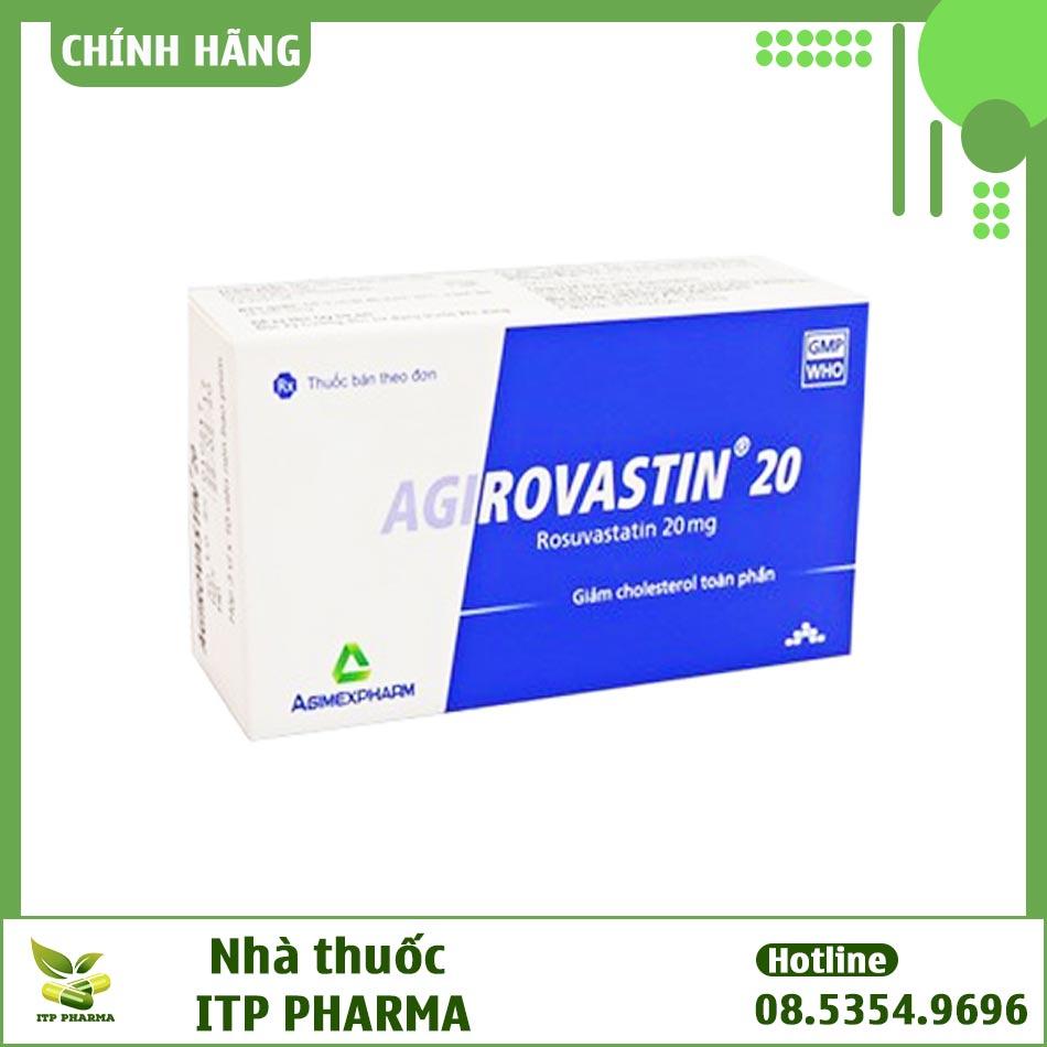 Hình ảnh mặt trước hộp thuốc Agirovastin 20mg
