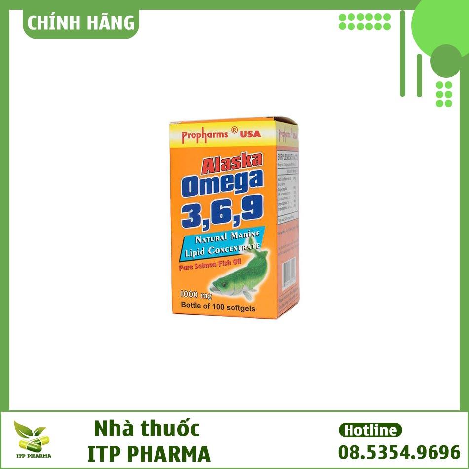 Hình ảnh hộp sản phẩm ALASKA OMEGA 3 6 9