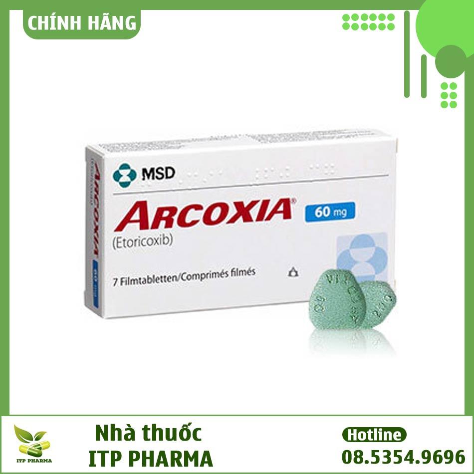 Hình ảnh hộp thuốc Arcoxia 60mg