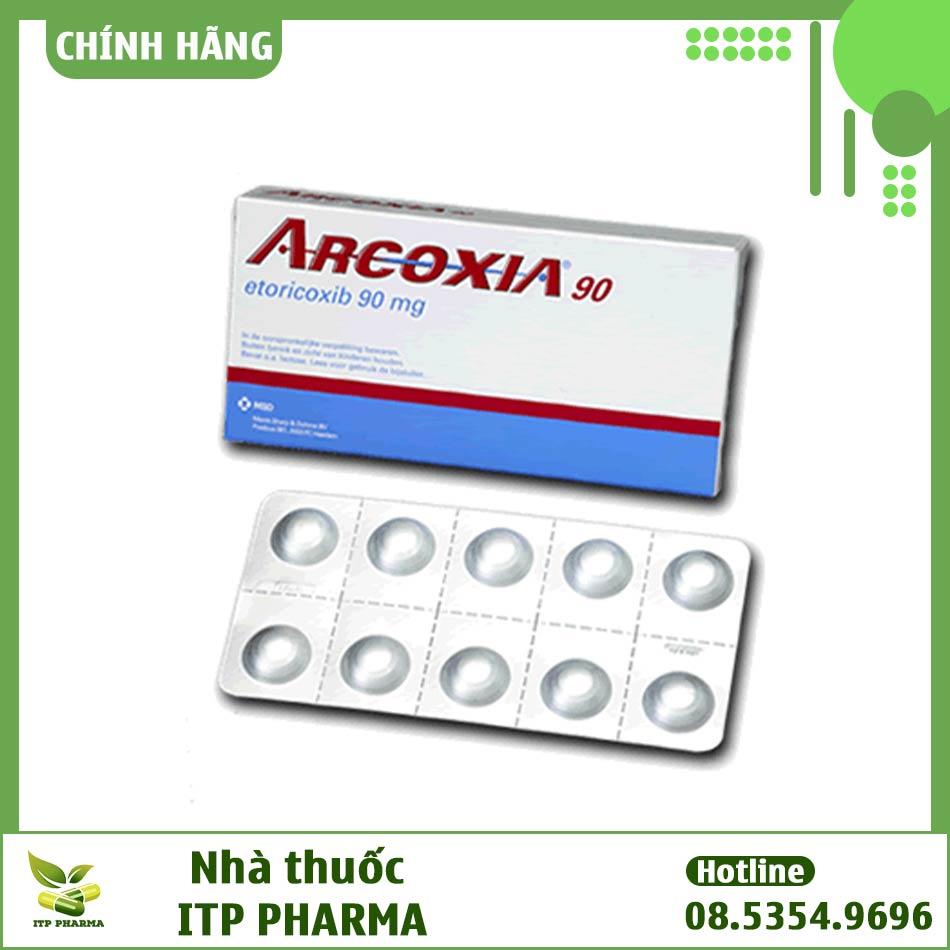 Hình ảnh hộp thuốc Arcoxia 90mg