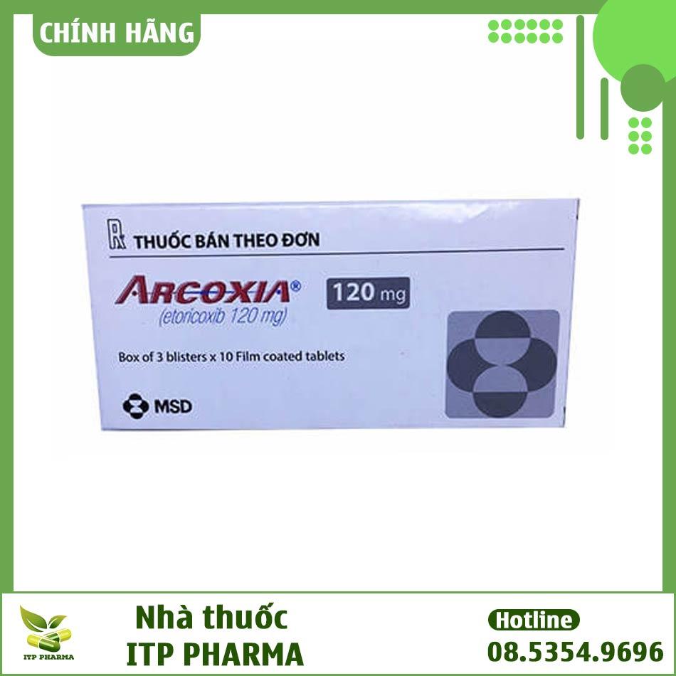 Hình ảnh hộp thuốc Arcoxia 120mg
