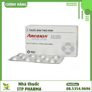 Hình ảnh hộp và vỉ thuốc Arcoxia 120mg