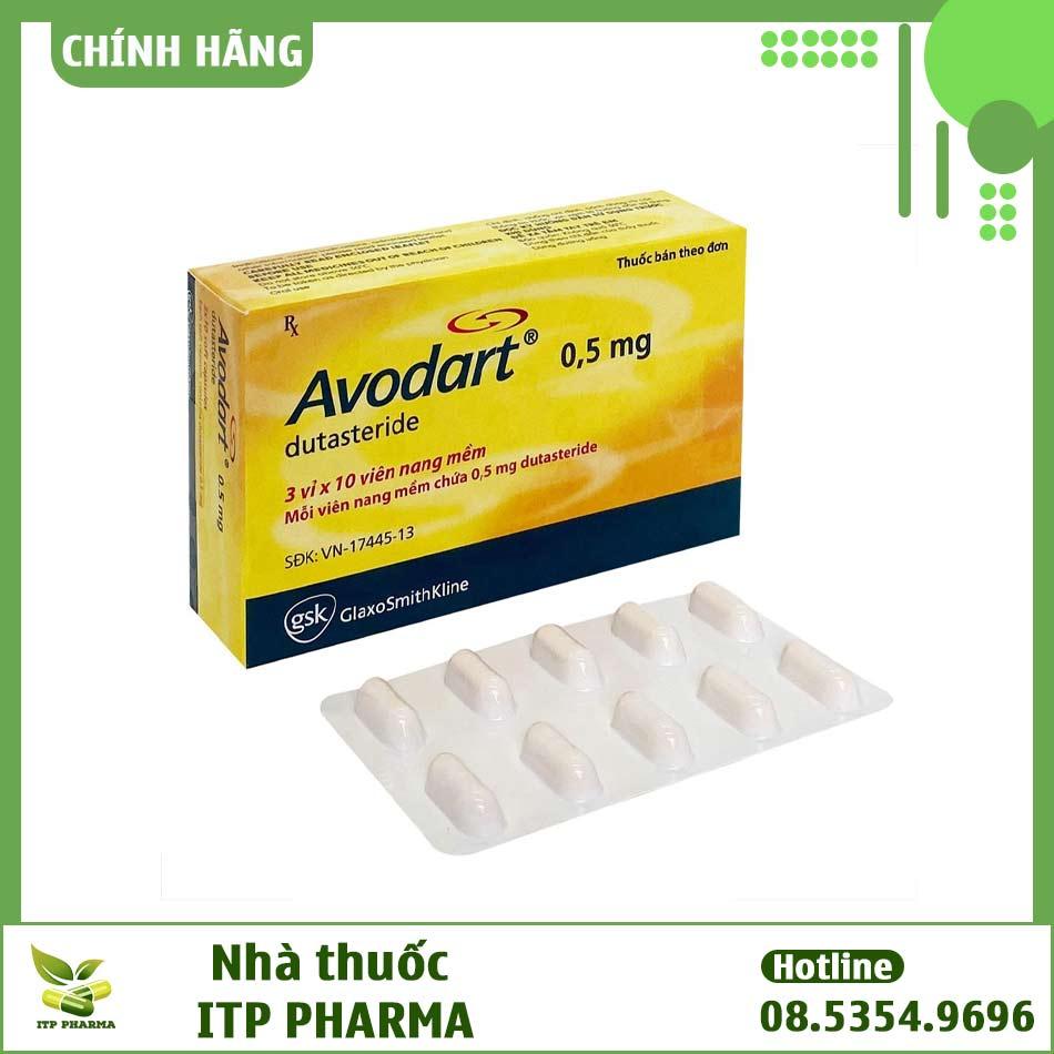Hình ảnh hộp và vỉ thuốc Avodart 0.5mg