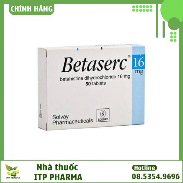 Hình ảnh hộp thuốc Betaserc 16mg