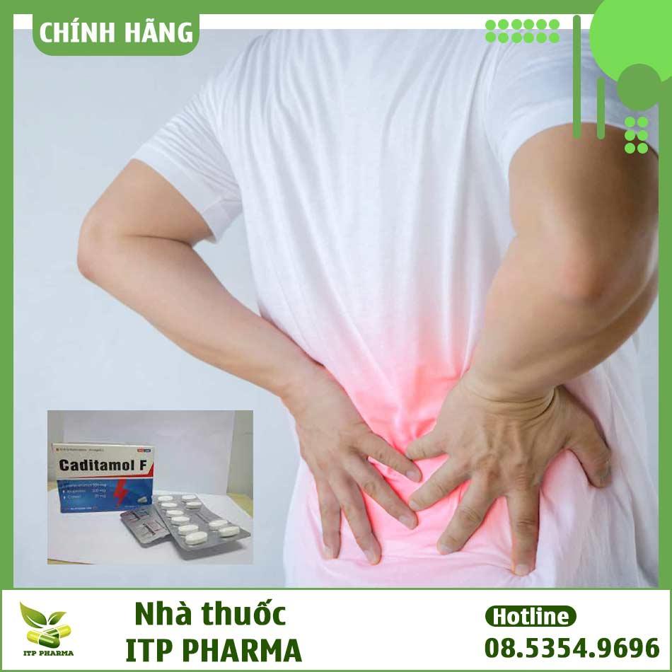 Caditamol F có công dụng giảm đau