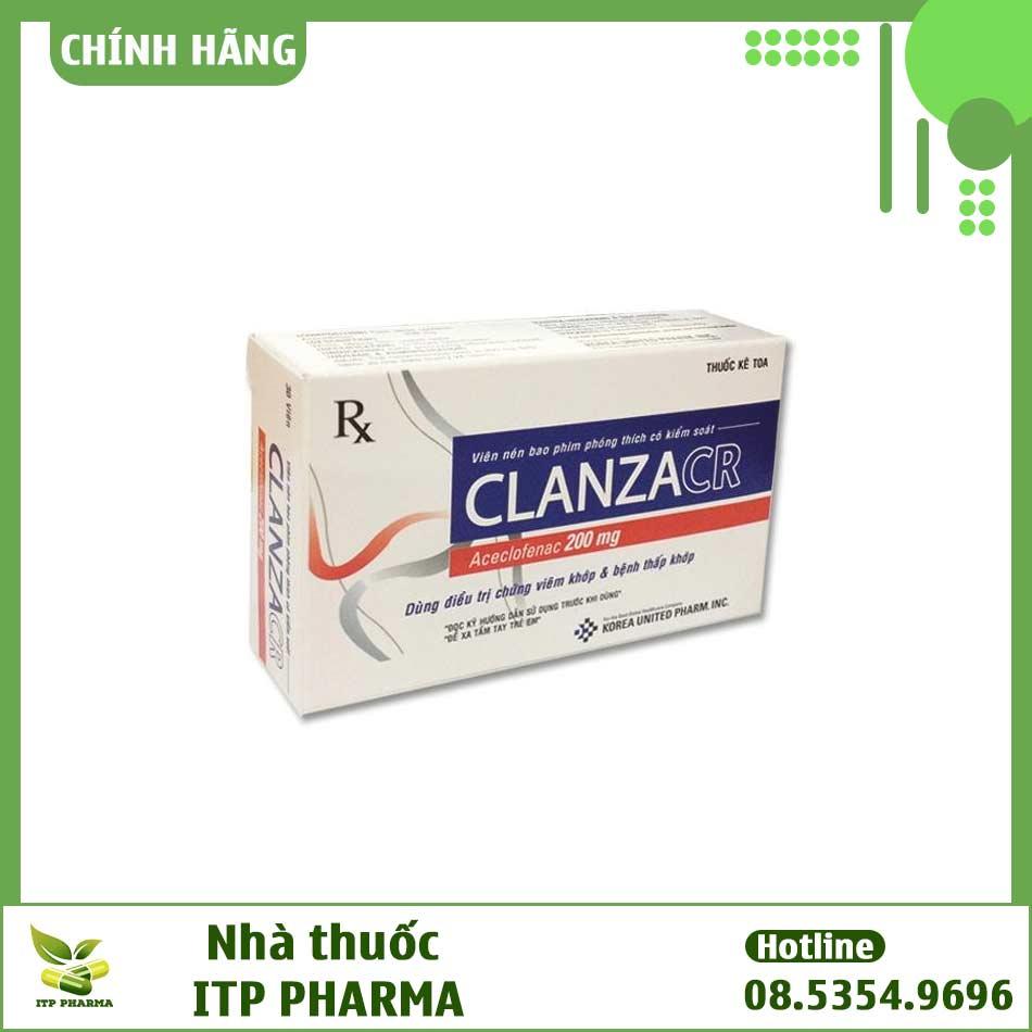 Tương tác thuốc ở ClanzaCR