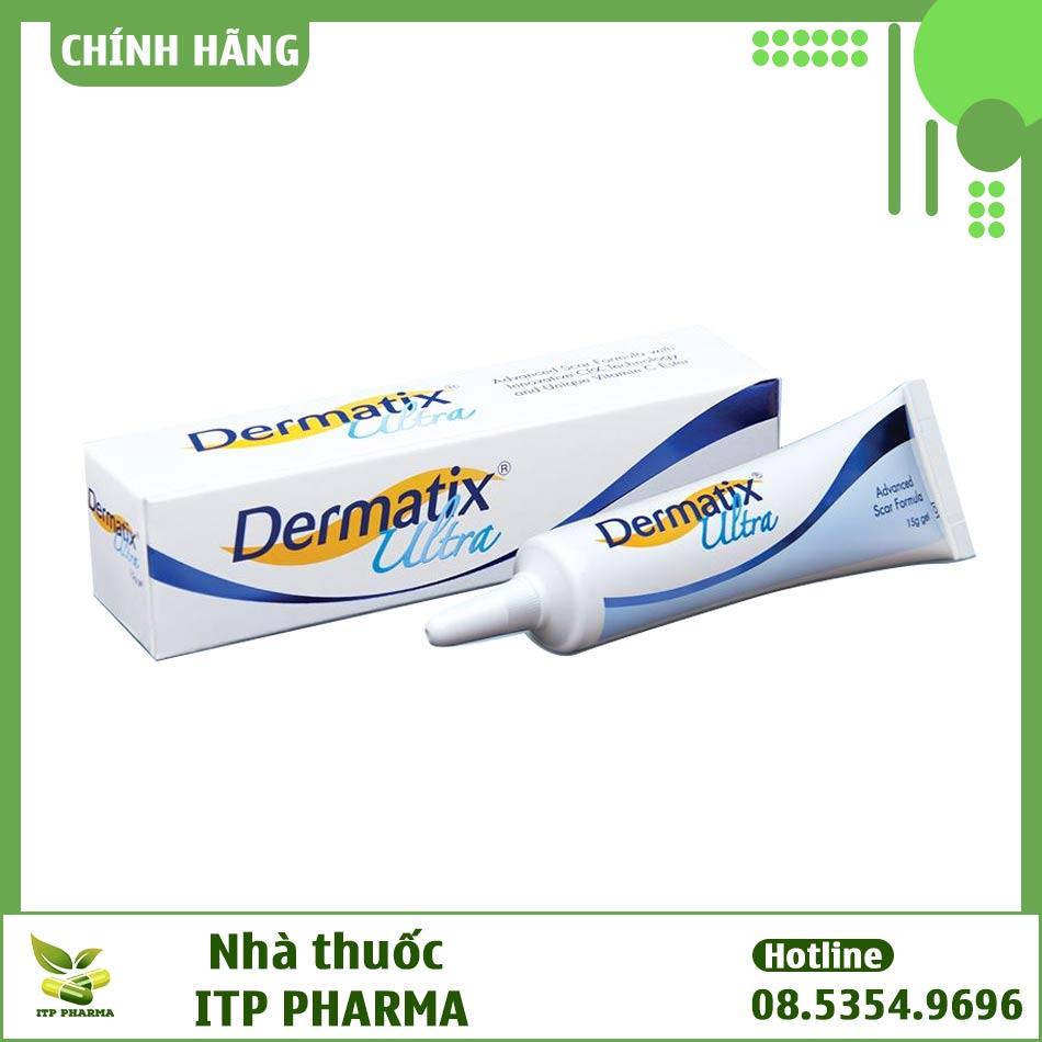Hình ảnh hộp và tuýp kem trị sẹo Dermatix Ultra
