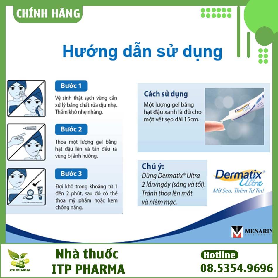 Hướng dẫn sử dụng kem trị sẹo Dermatix Ultra
