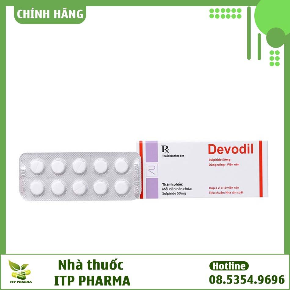 Hình ảnh vỉ thuốc Devodil