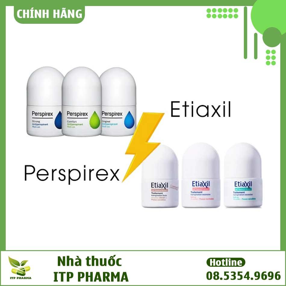 Lăn khử mùi Etiaxil và Perspirex