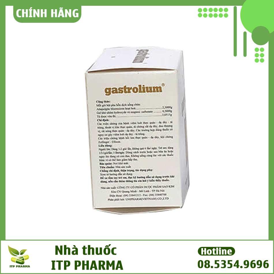 Thành phần của Gastrolium có gì?