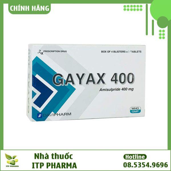Mặt trước hộp thuốc Gayax 400