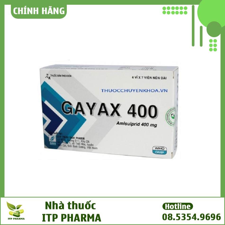 Hình ảnh hộp thuốc Gayax 400