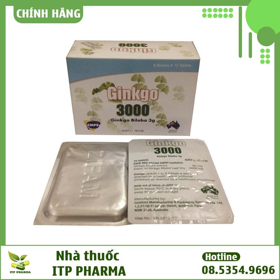 Hình ảnh vỉ thuốc Ginkgo 3000