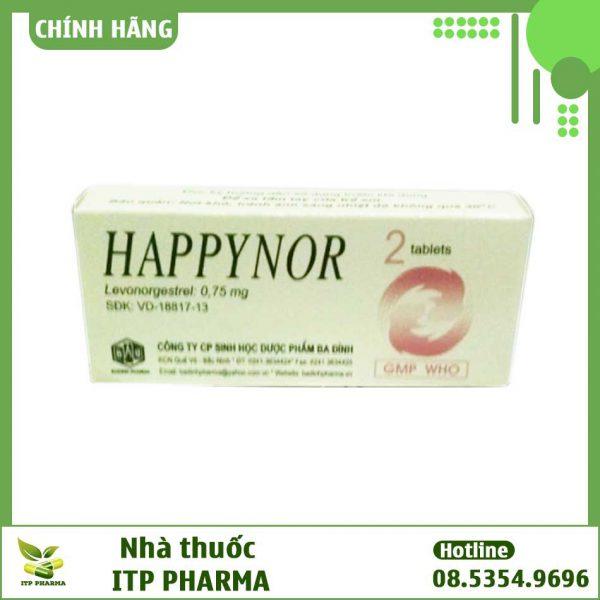 Hình ảnh hộp thuốc Happynor