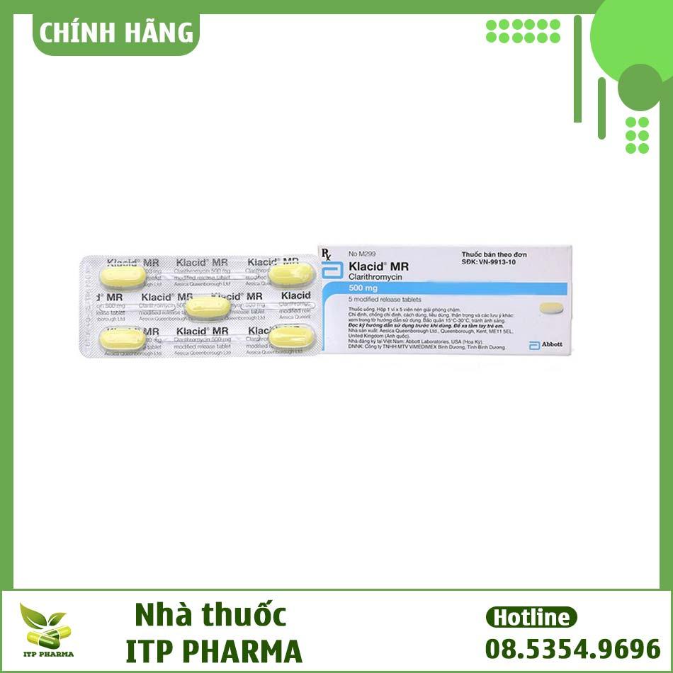 Lưu ý khi sử dụng thuốc Klacid MR 500mg