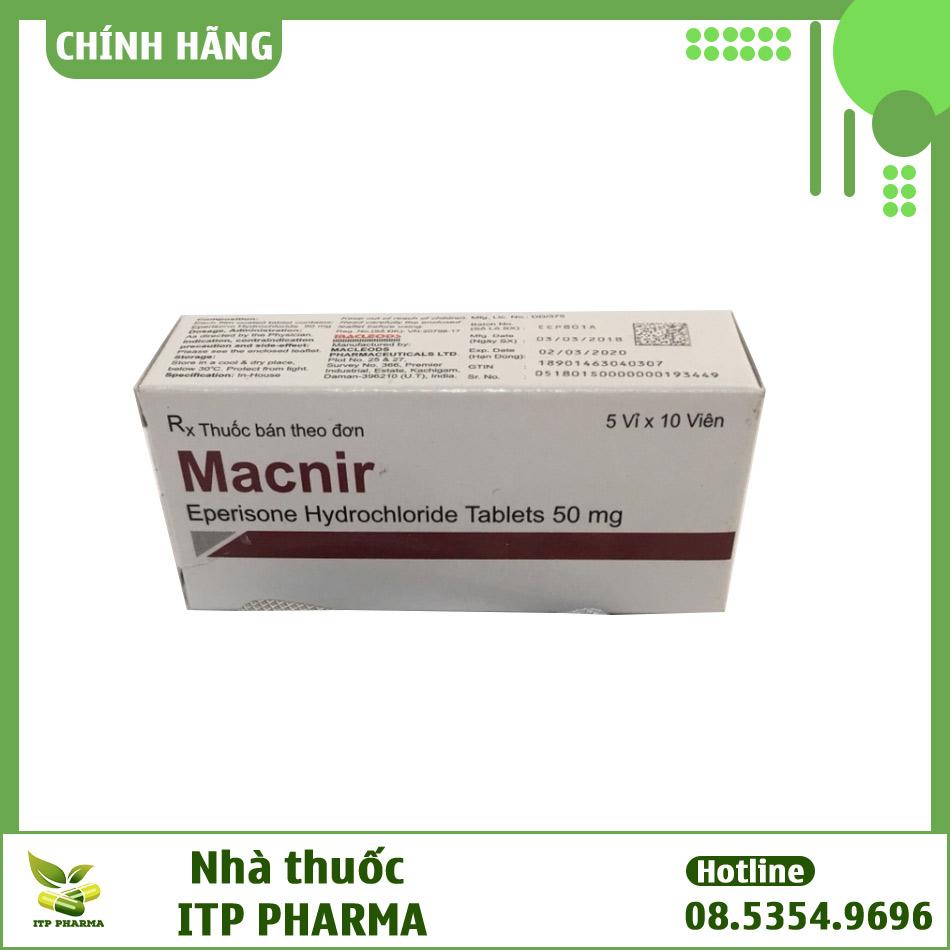 Hình ảnh hộp thuốc Macnir
