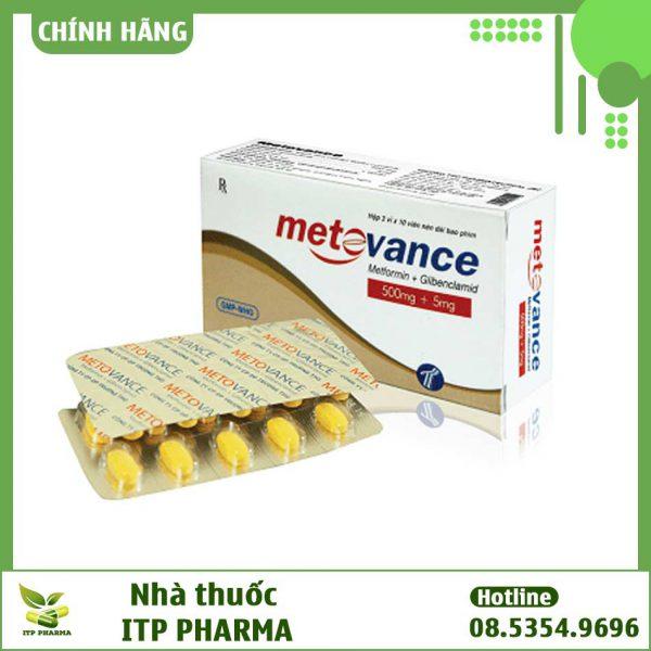 Hình ảnh hộp và vỉ thuốc Metovance