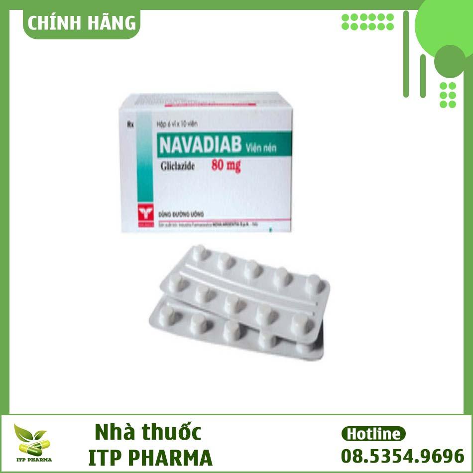 Hình ảnh vỉ thuốc Navadiab