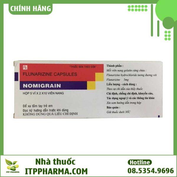 Thuốc Nomigrain 5mg điều trị đau nửa đầu