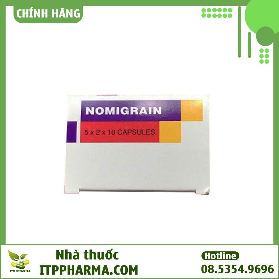 Mặt trên hộp thuốc Nomigrain 5mg