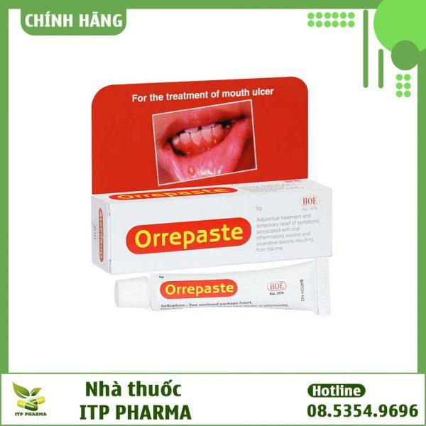 Hình ảnh hộp thuốc Orrepaste