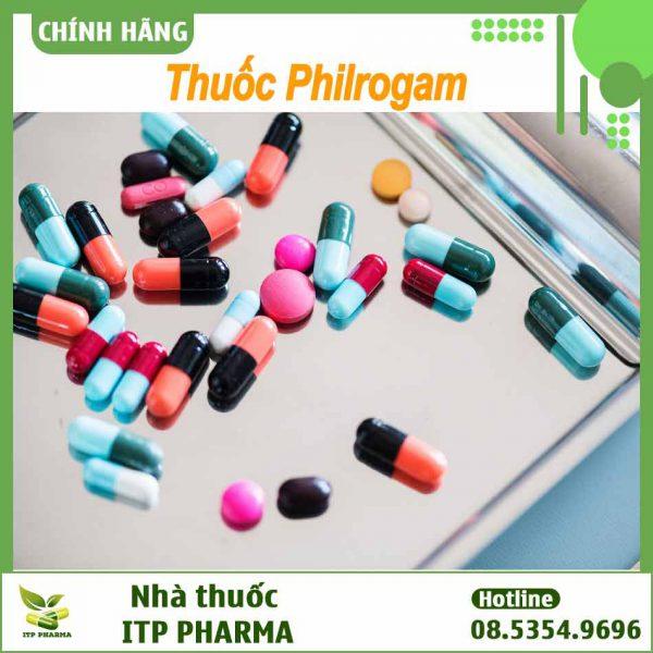 Tương tác thuốc ở thuốc Philrogam