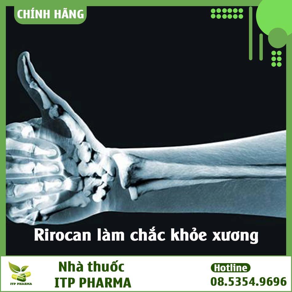 Rirocan có công dụng làm chắc xương