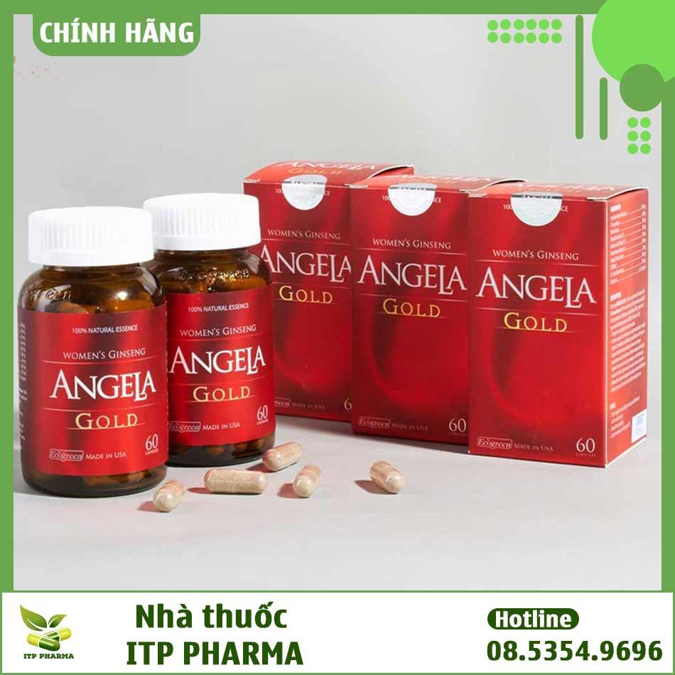 Hình ảnh hộp và lọ Sâm Angela Gold