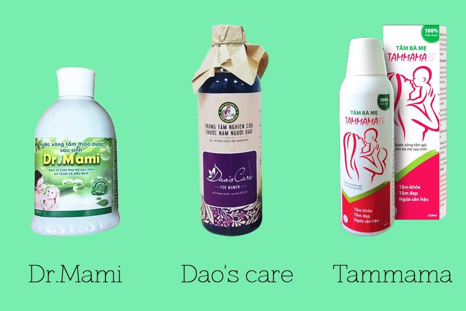 Một số sản phẩm thảo dược xông tắm cho bà bầu sau sinh
