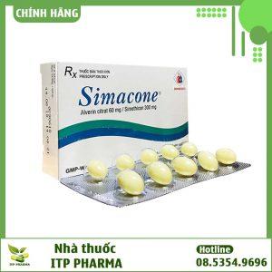 Hình ảnh hộp và vỉ thuốc Simacone