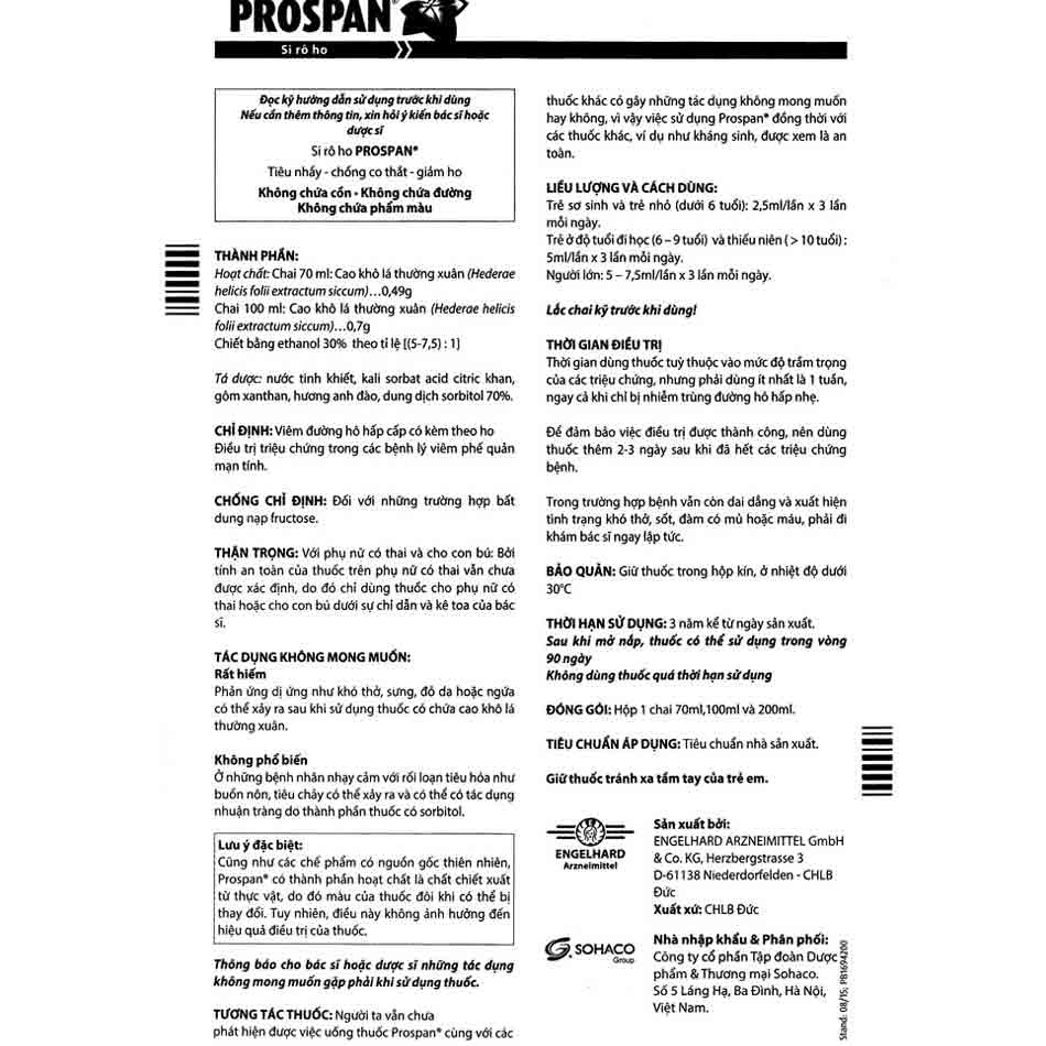 Hướng dẫn sử dụng siro ho Prospan