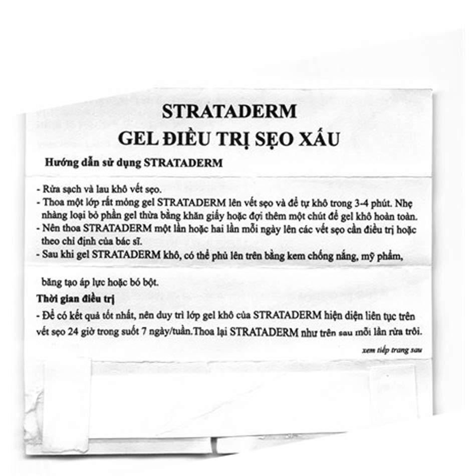 Hướng dẫn sử dụng Strataderm