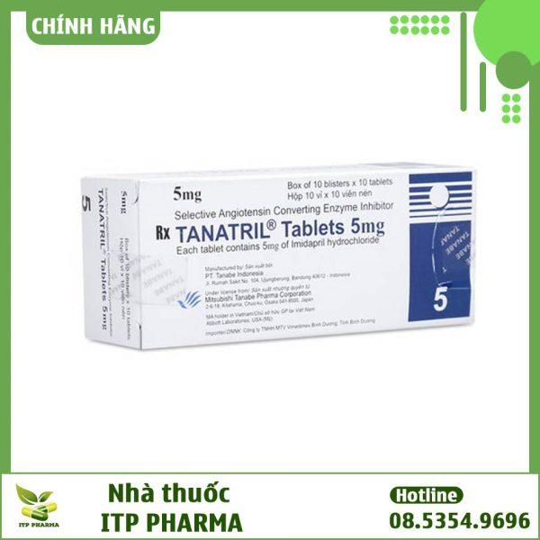 Hình ảnh hộp thuốc Tanatril Tablets 5mg