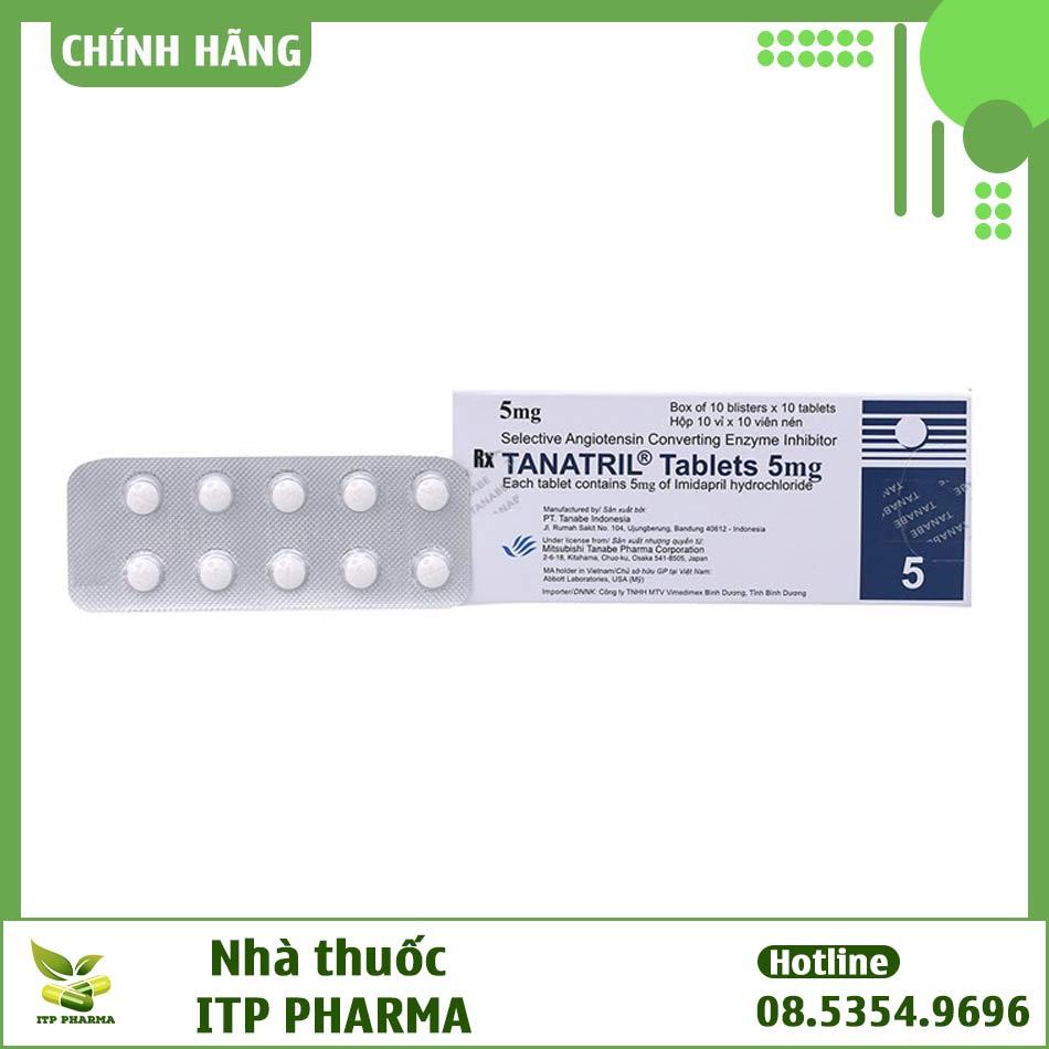 Thuốc điều trị tăng huyết áp Tanatril Tablets