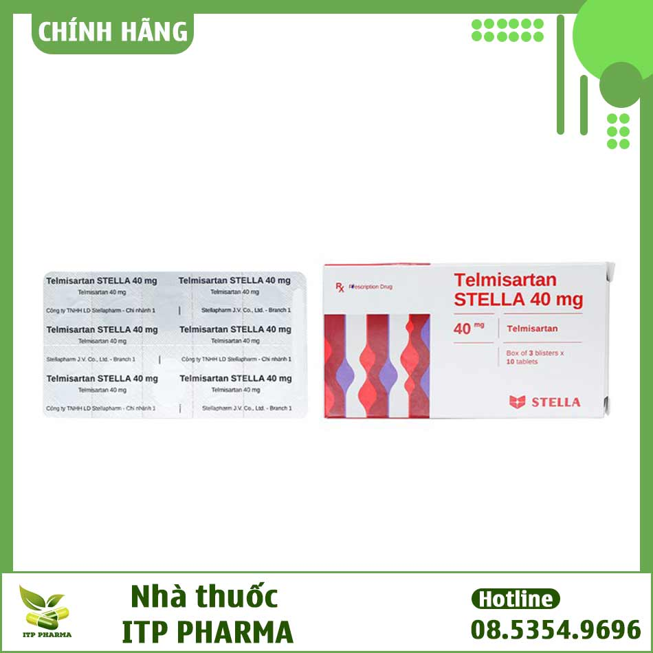 Hình ảnh thông tin in trên vỉ thuốc Telmisartan Stella 40mg