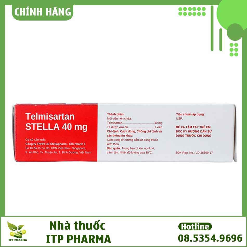 Thành phần thuốc Telmisartan