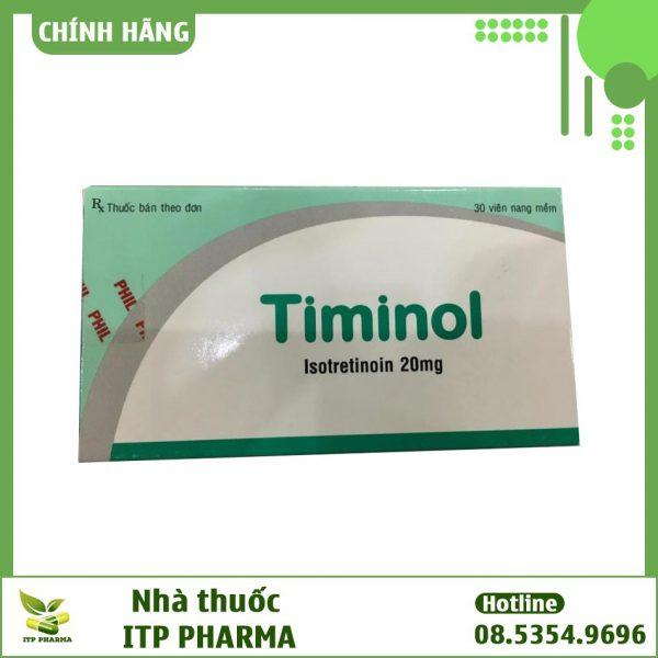 Hình ảnh mặt trước hộp thuốc Timinol